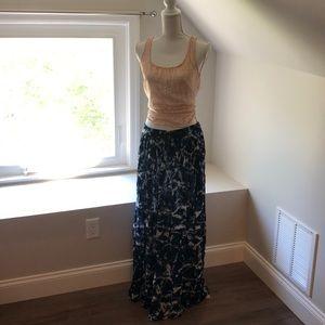 Long flowing tie dye skirt